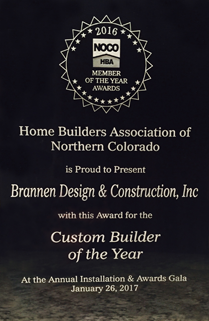 Home Builders Association of Northern Colorado Award