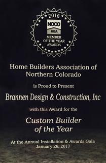 Home Builders Association of Northern Colorado Award