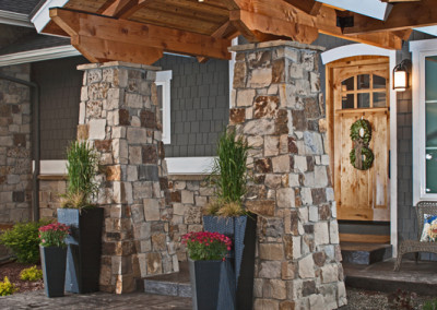 Luxury Home Stone Pillar Entryway