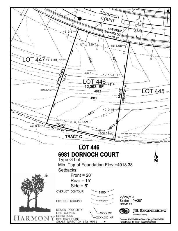 Available lot Harmony Golf Club in Timnath